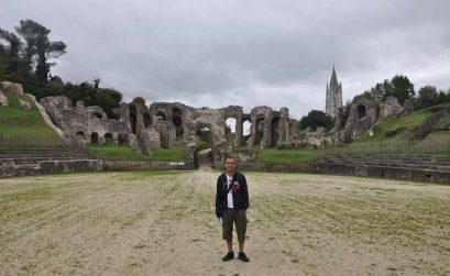 En el anfiteatro romano de Saintes