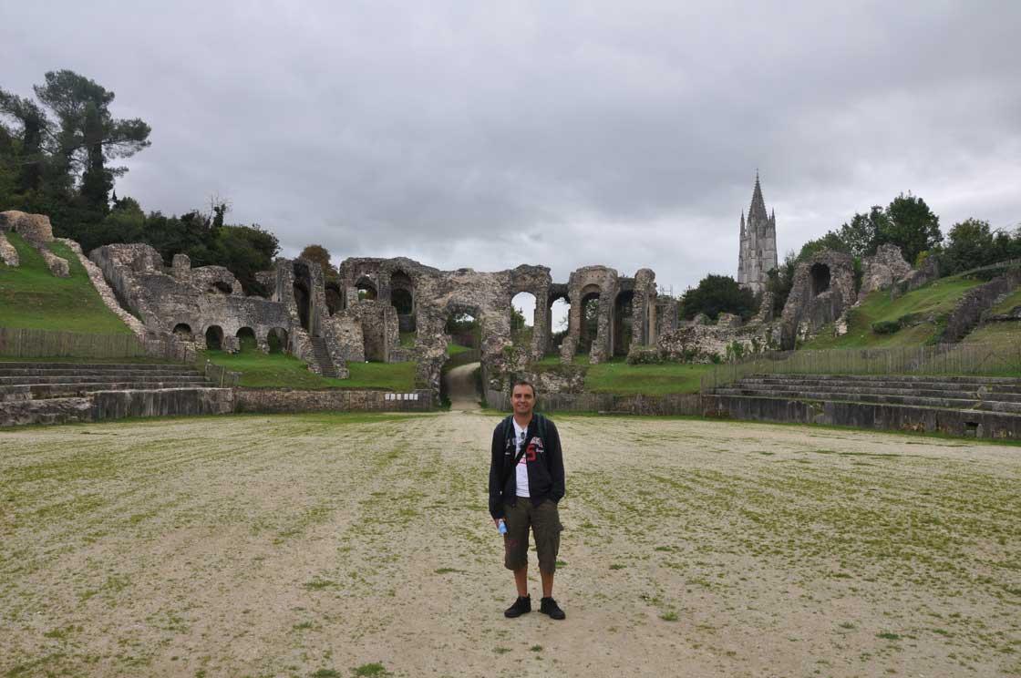 Zoilo en el anfiteatro romano de Saintes
