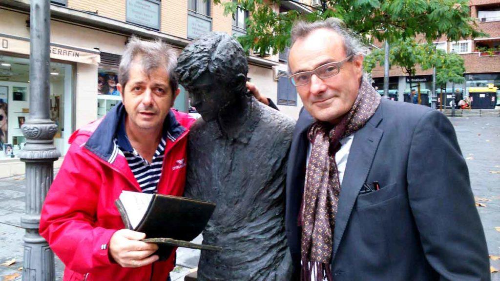 El periodista Pedro Araque y el escritor Fernando Cotta