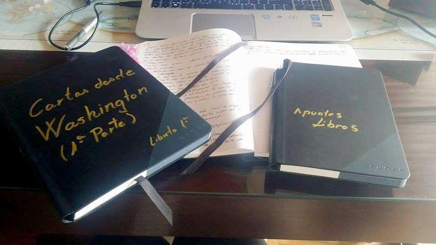 Escenarios de Cartas y Mensajes: libretas originales de Mercedes Pinto