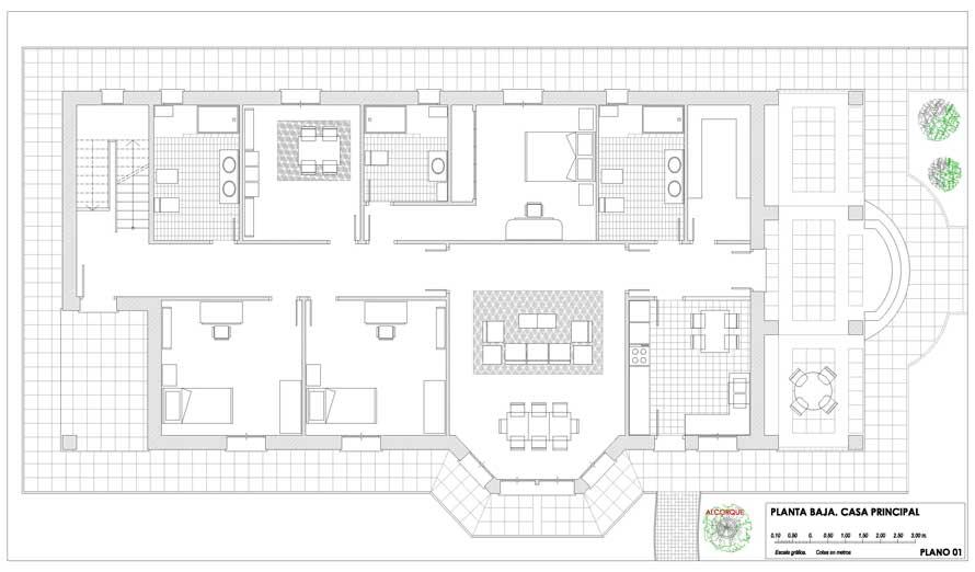 Plano de la casa de Berta