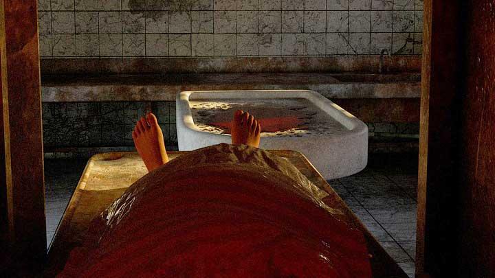 Mesa de autopsias en Melodía para un forense