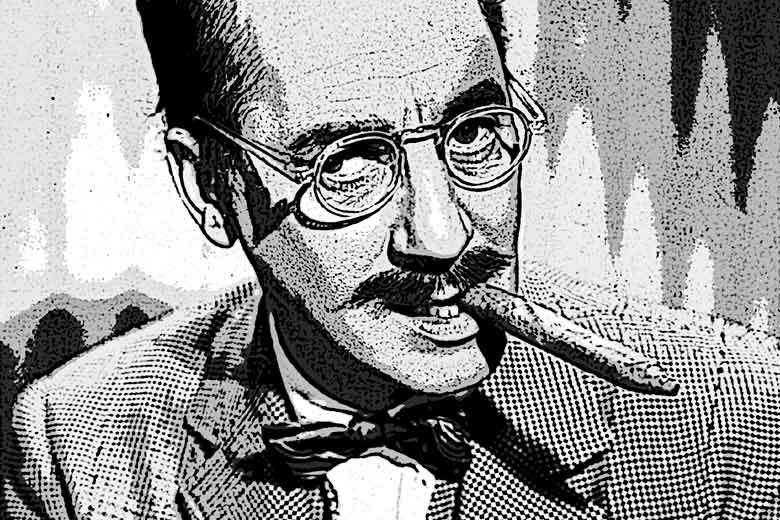 imitando a Groucho Marx, entrega de El esclavo de los nueve espejos, de Raimundo Castro