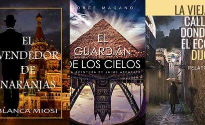novedades literarias con buenas sensaciones, el guardián de los cielos, el vendedor de naranjas, la calle donde el eco dijo